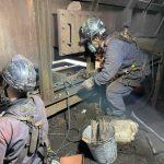 日本製鐵構内 灰出しコンベア機械整備